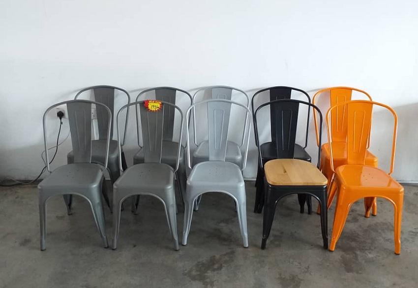metal chair stock