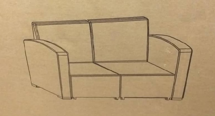 molded 2 seater sofa