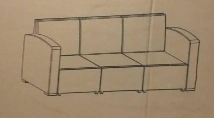 molded 3 seater sofa