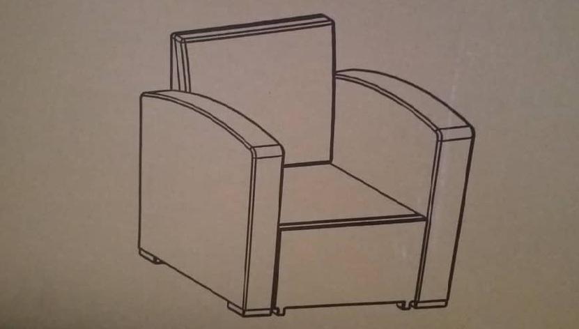 molded single seat sofa