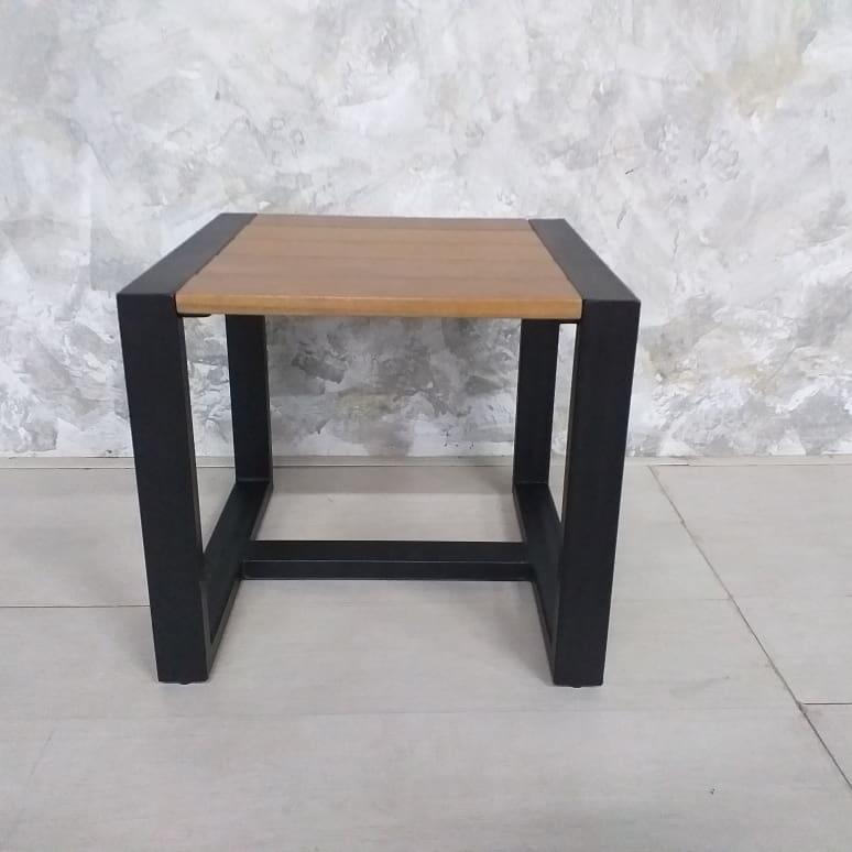 metal with balau top side table