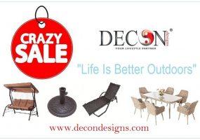 Crazy Outdoor Furniture Sale, Decon Sale, Year End Sale, Bilal Ahmad Bhat
