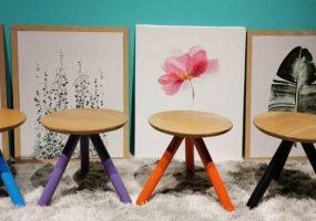 Balau Wood Side Table, KTS-24ST