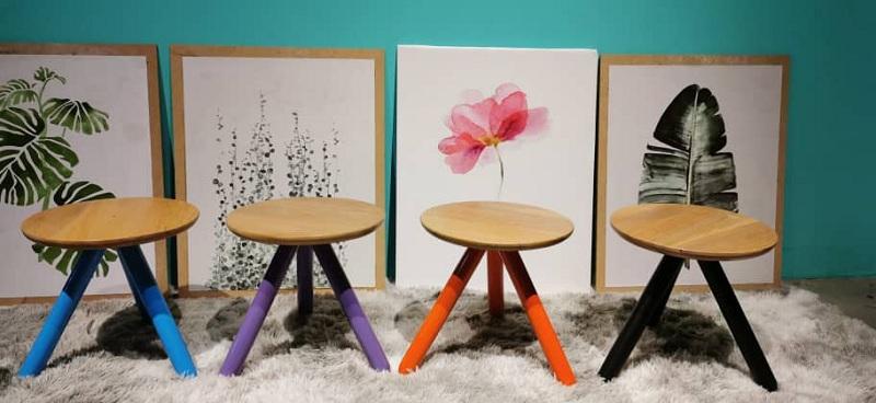 Balau Wood Side Table