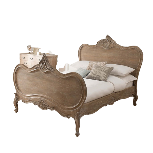 Lucas Queen Bed, French Bed,