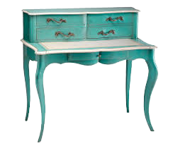 Natalie Console Table, turquise
