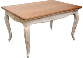 White Wash French  Dining Table, JD-123