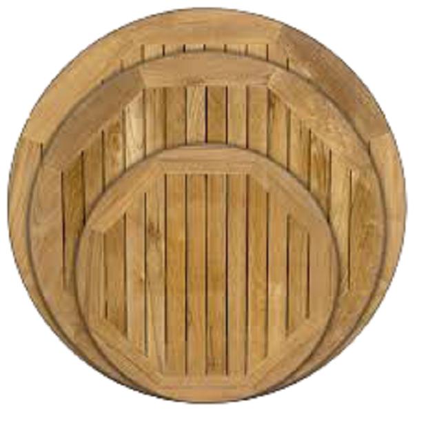 assorted teak wood table top