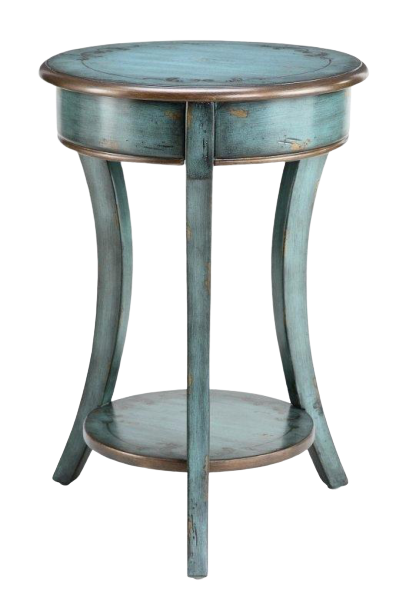 Distressed End Table,