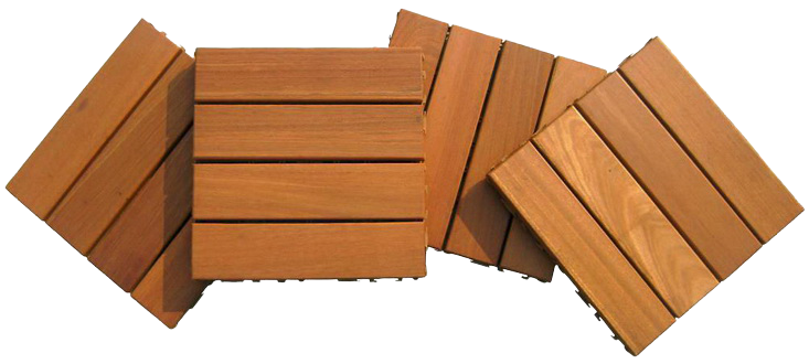 Solid Teak Wood Deck Tiles,