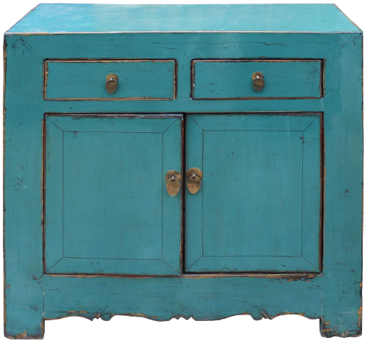 Asian Accent Side Table Turquoise