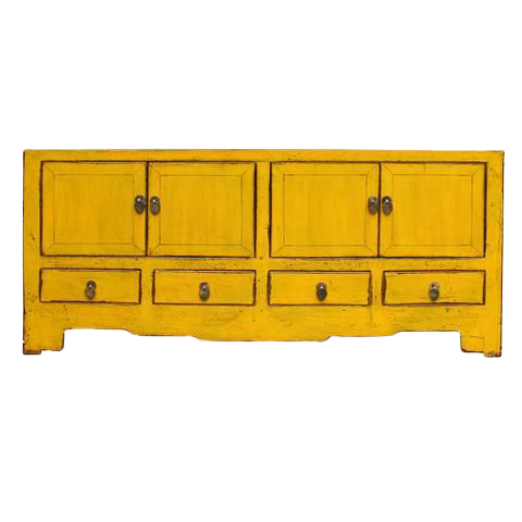 Asian Accents Side Yellow Sideboard