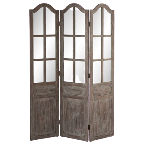 French Mirrored Room Divider