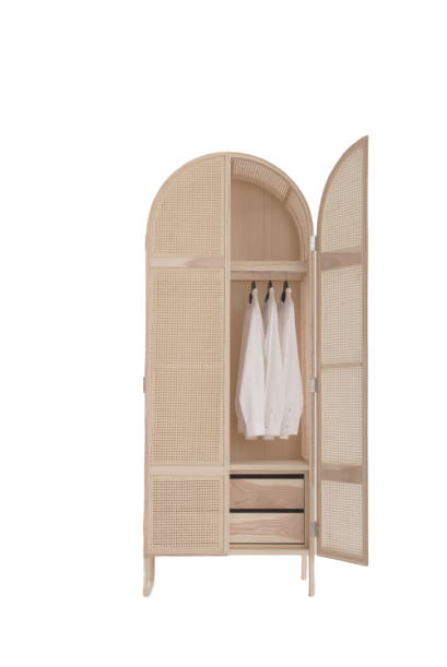 Penguin Cane Wardrobe Natural