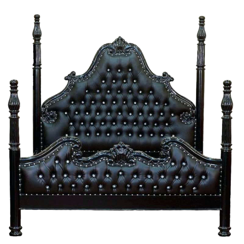 Black Gothic Dungeon Poster Bed,