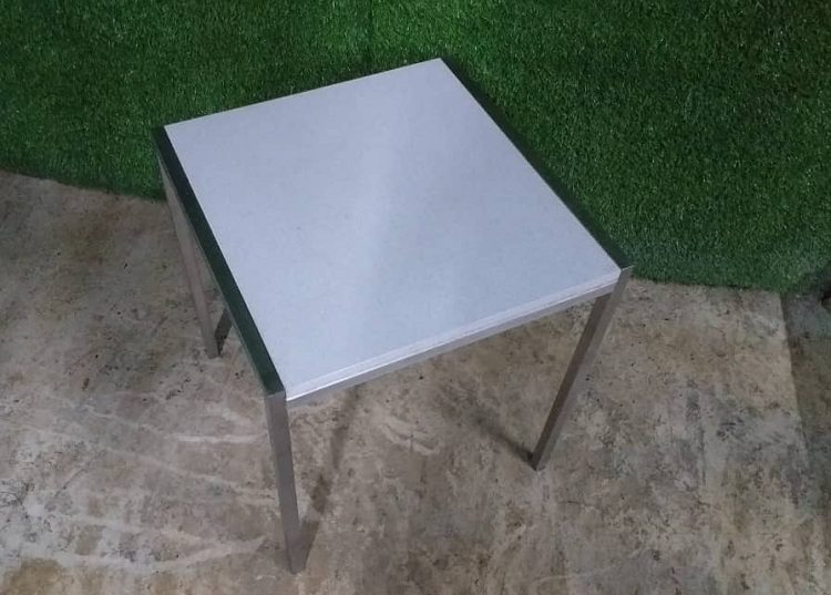 side table stainless