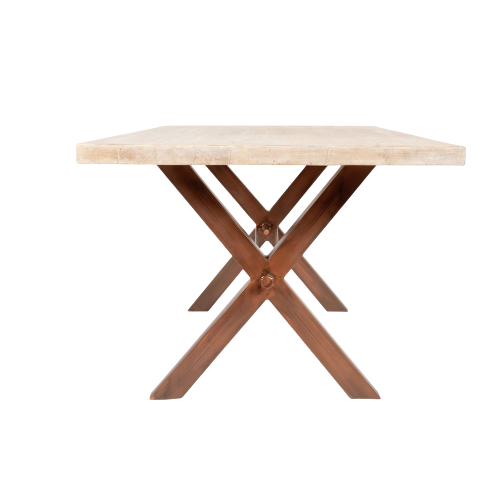 Leonard X Connect Table Legs,copper table legs