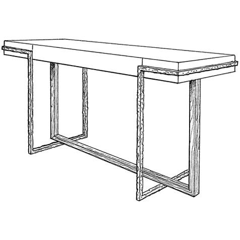 Metal Console Frame