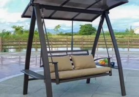 Cathy Outdoor Powder Coated Metal Swing, JHA-192B