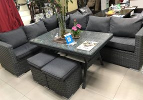 Wicker Stock Sofa Set, JHA-18018A