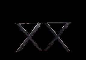 X Design Mild Steel Table Bench Legs, KTS-42BTL