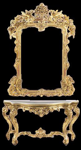 Ocean Mael Mirror with Console