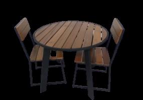 Balau Wooden Outdoor Dining Set, KTS-1001DT