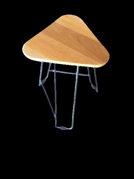 Balau wood Tringular table
