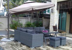 Talisha Wicker Stock Sofa Set, JHA-18018A