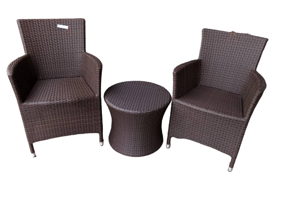 java brown patio set