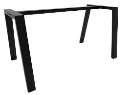 metal table legs with central bar trapezoid shaped, pj
