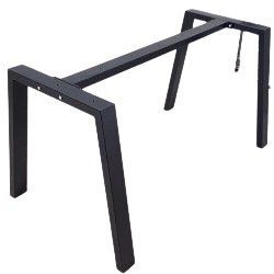 Metal Table Legs With Central Bar Rrapezoid Shaped,
