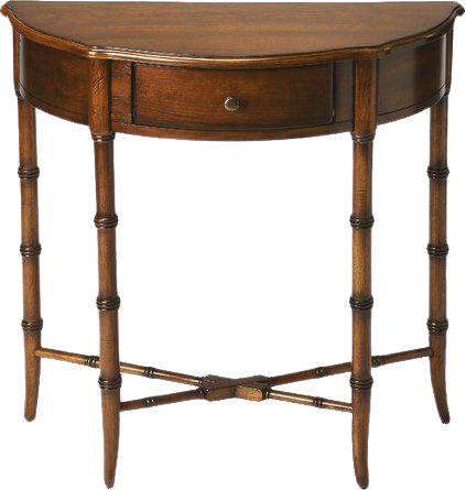 Aimee French Half Moon Console Table,