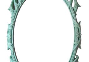 Camille Claudel Turquoise Colour Wall Mirror, JD-347
