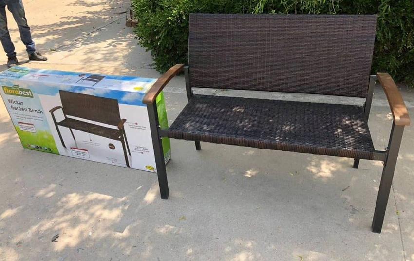 Florabest wicker garden bench