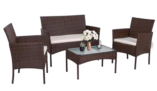 Monicas Patio Wicker Patio Set