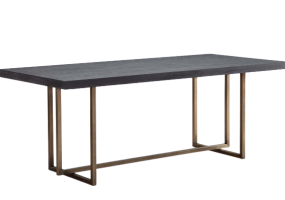 Noah Dining Table With Mild Steel Legs, JD-176