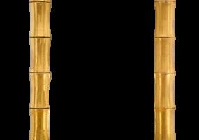 Rococo Madera Bamboo Design Gold Mirror, JD-385