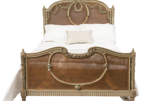 Antique Queen King Bed French Louis XV, JD-667
