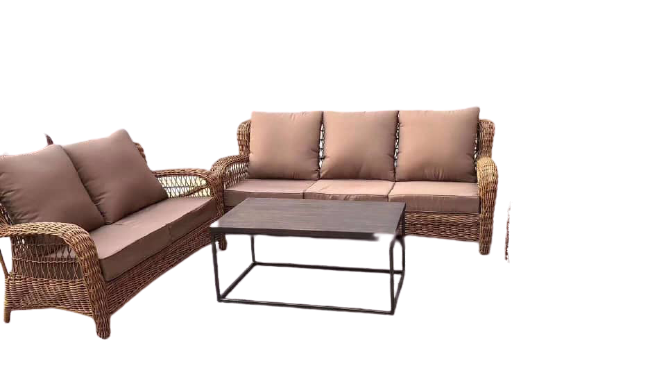 natural look rattan sofa set