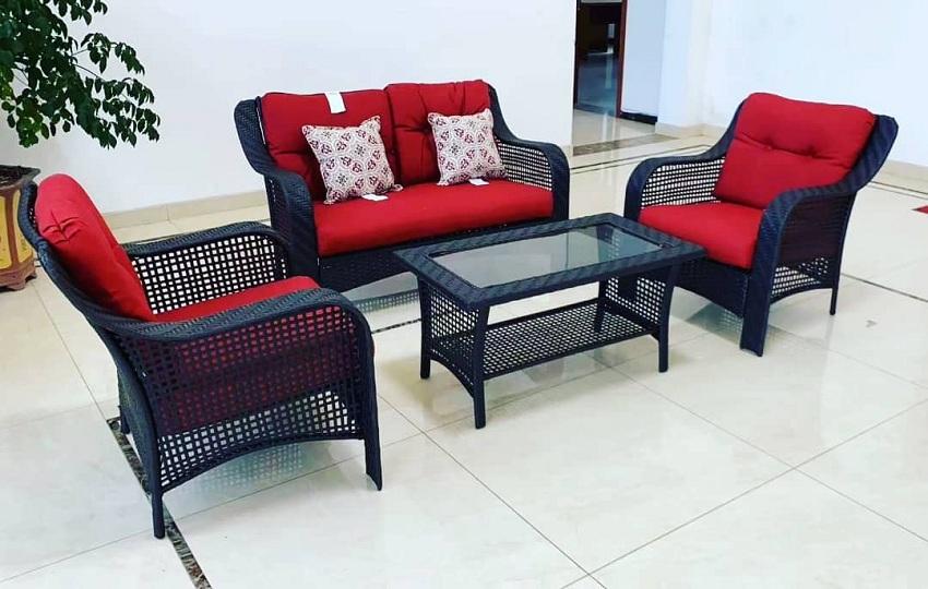rattan patio sofa set