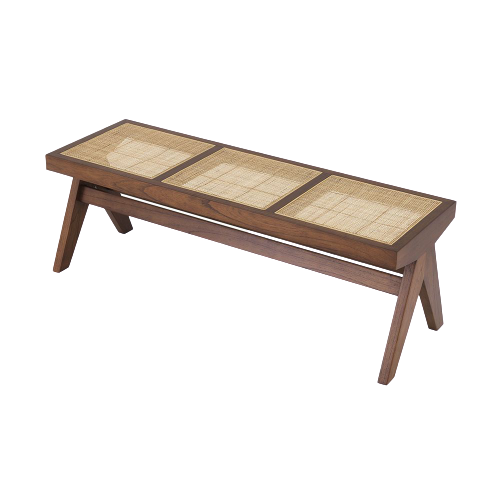 Accents French Bench With Natural Cane, KL
