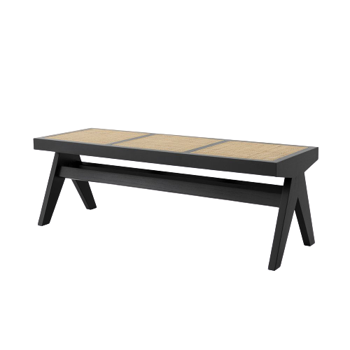 Accents French Bench With Natural Cane