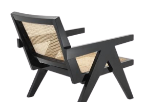 Accents French Lounge Chair With Natural Cane, JD-2029