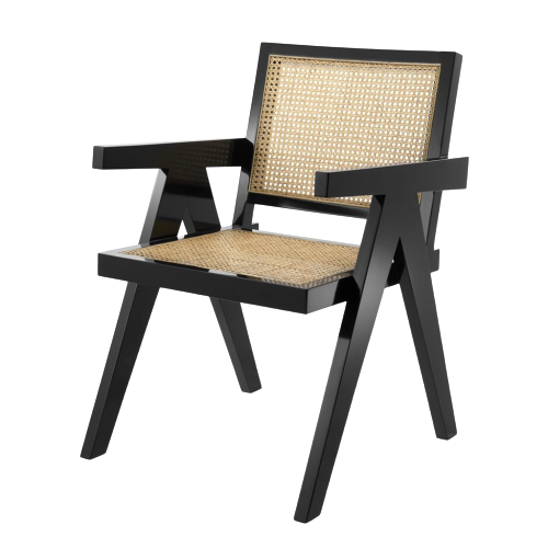 Accents French Lounge Chair With Natural Cane,kl