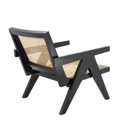 Accents French Lounge Chair With Natural Cane