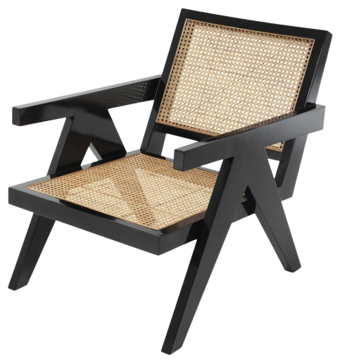Accents French Lounge Chair With Natural Cane, pj
