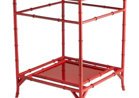 Aimee Designer French Red Chilli Side Table, JD-182