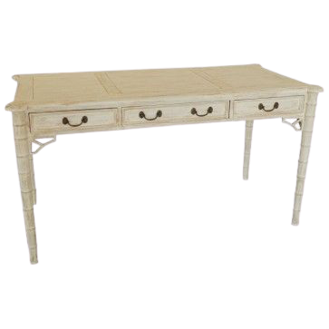 Aimee Designer French White Wash Writing Table
