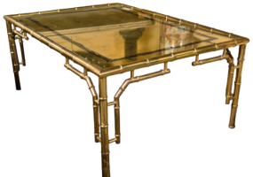 Aimee French Dining Table With Glass Top, JD-180